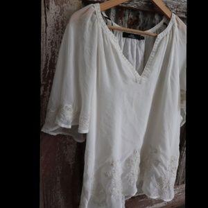 Embellished cream blouse